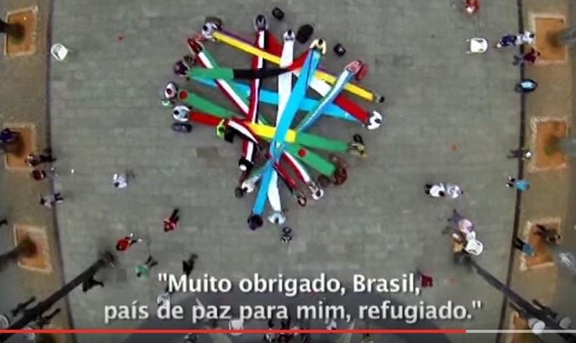 Clipe dos refugiados no Brasil