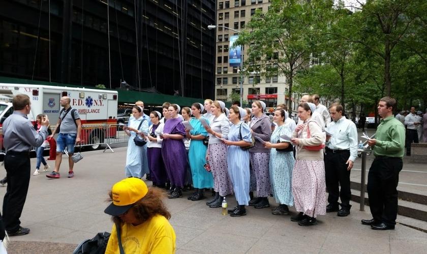Os missionários menonitas viajam para Nova York a cada 11 de setembro. (The Christian Post/ Vicent Funaro)