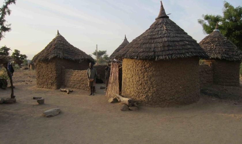 Típica vila em Camarões