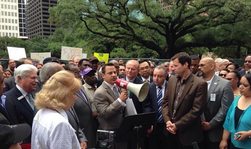 Grupo 'Texas Values Action' expressa seu repúdio à portaria de instalação dos banheiros transgêneros (Foto: TEXAS VALUES ACTION)