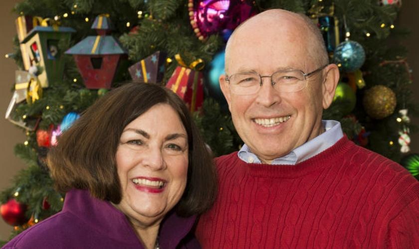 Pastor Wayne Grudem e sua esposa, Margaret.