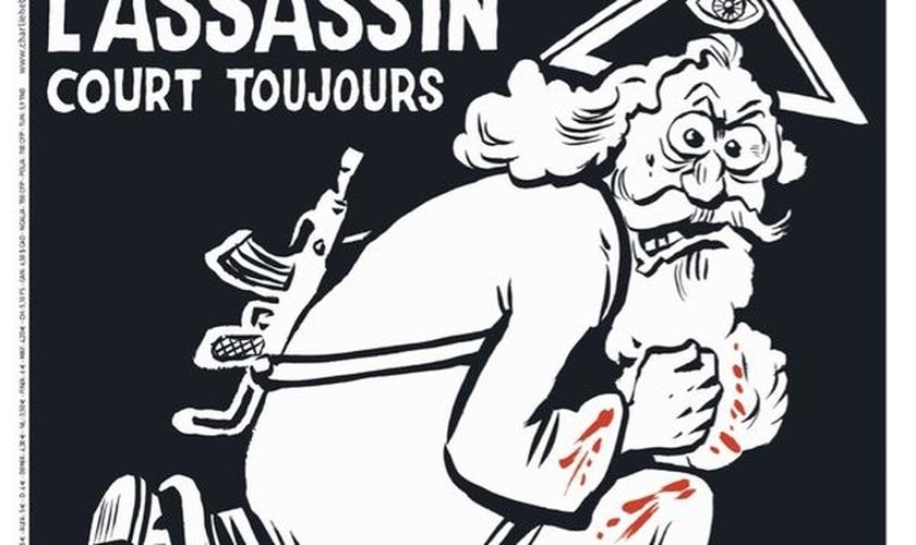 Charge estampa edição especial de um ano do ataque ao 'Charlie Hebdo'. (Foto: Reprodução/Twitter/JFGuyot)