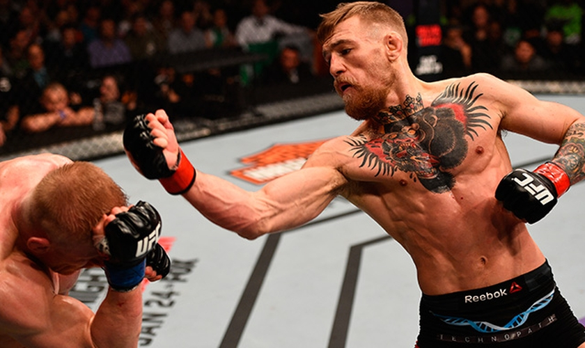 O próximo adversário de McGregor no UFC 197, em abril, será o brasileiro Rafael dos Anjos, que também confrontou o irlandês. (Foto: Jeff Botari/Zuffa/UFC/Getty)