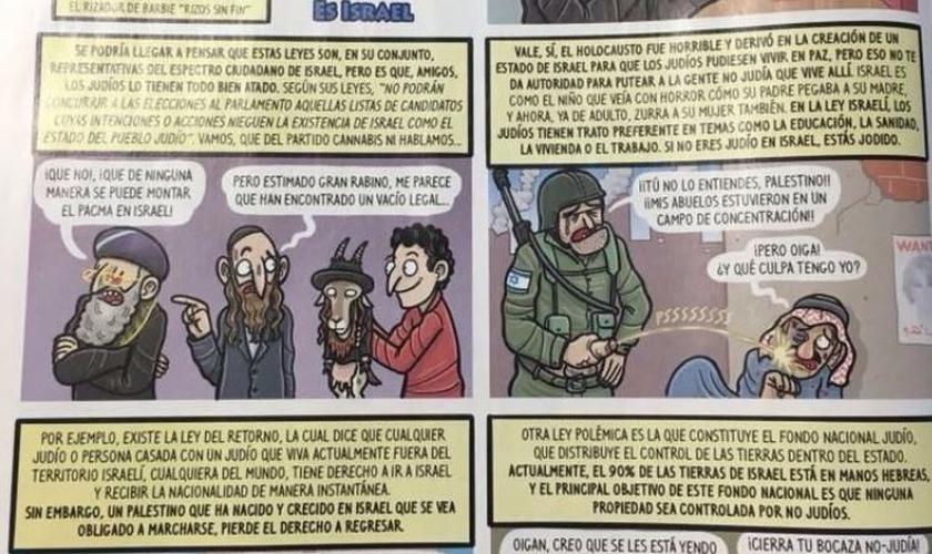 """Com sede em Barcelona, capital da Espanha, """"El Jueves"""" tem criticado fortemente o Estado judeu. (Foto: El Jueves)"""