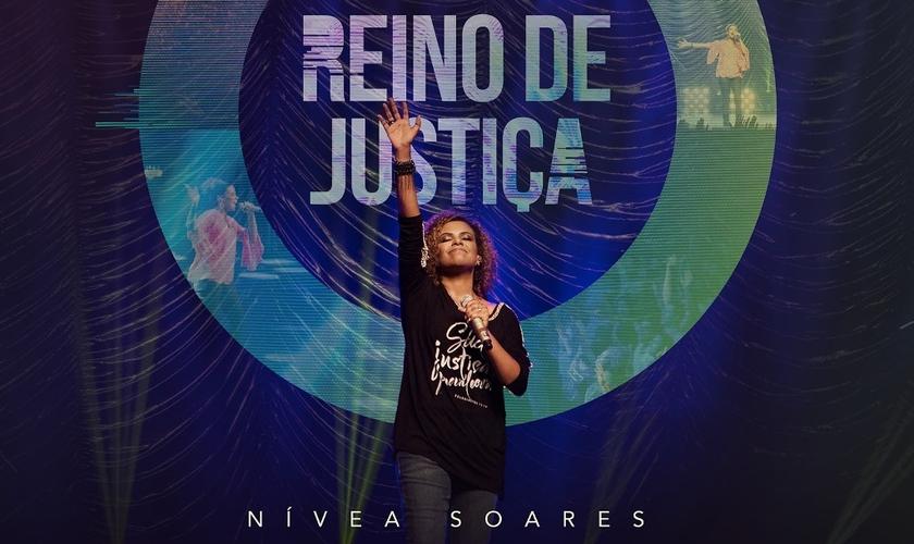 Capa do disco Reino de Justiça de Nívea Soares. (Foto: Divulgação).