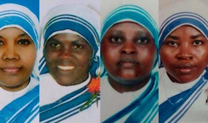 Da esquerda para a direita: Sras. Anselm, 59 anos, Regina, 33 anos, Judith, 41 anos, Marguerite, 44 anos. (Foto:  The Apostolic Vicariate of Southern Arabia.)