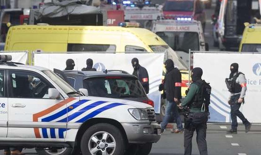 Atentados terroristas no aeroporto e metrô de Bruxelas, na Bélgica, deixaram vários mortos. (Foto: EFE)