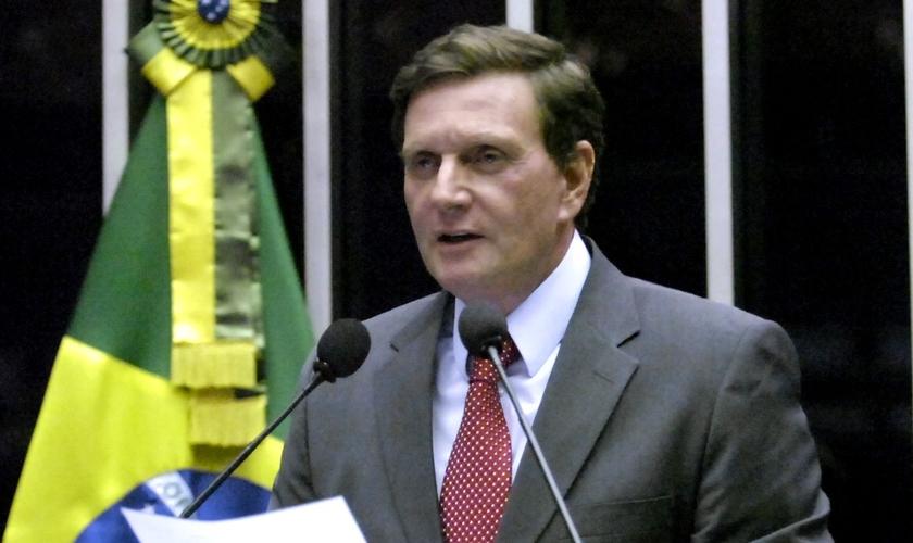Marcelo Crivella é senador pelo PRB - RJ e bispo licenciado da Igreja Universal do Reino de Deus. (Foto: PRB)