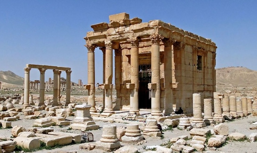 Ruínas do templo de Baal, em Palmyra. Após ser tomada pelo Estado Islâmico, a cidade teve dezenas de prédios / templos históricos destruídos. (Foto:  Agência EFE)