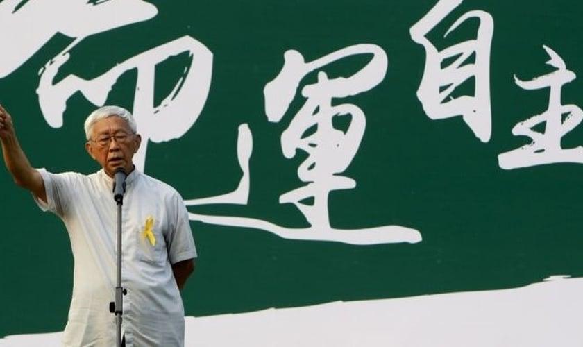 Cardeal Joseph Zen, durante evento em Hong Kong. (Foto: Reuters)
