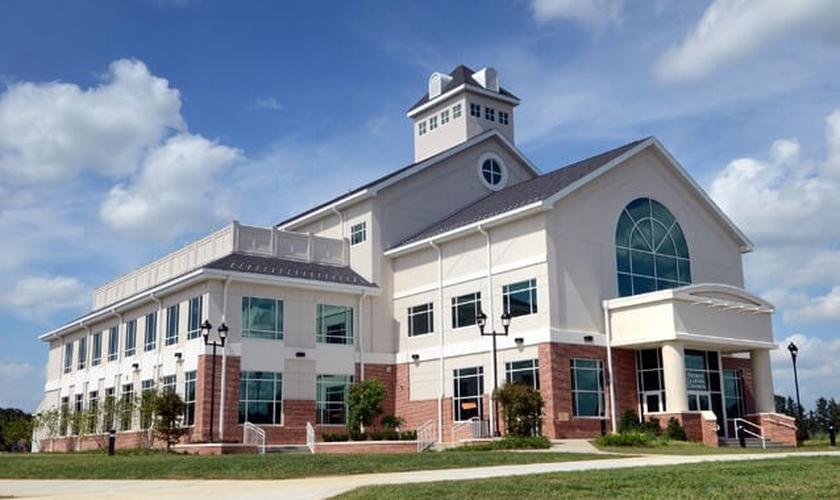 Fachada da Faculdade Bíblica de Lancaster. (Foto: Lancaster Bible College)