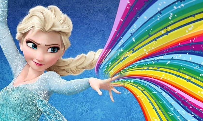 Usuários das mídias sociais geraram polêmica ao lançar uma campanha recentemente, pedindo que na sequência do sucesso 'Frozen', a personagem principal, princesa Elsa ganhe uma namorada. (Imagem: Social News Daily)