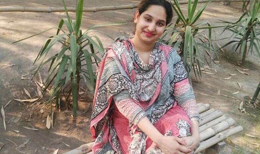 Maryam Mushtaq, de 24 anos, foi sequestrada e forçada a se casar com um muçulmano, no Paquistão. (Foto: BPCA)