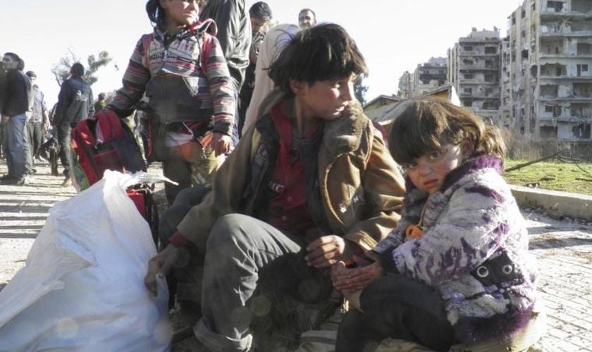 As reuniões de oração do dia 1º de junho irão contar com a participação de crianças na Síria. (Foto: Reuters)