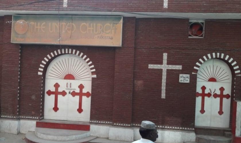 Igreja pentecostal Christian United, em Lahore, Paquistão. (Foto: World Watch Monitor)