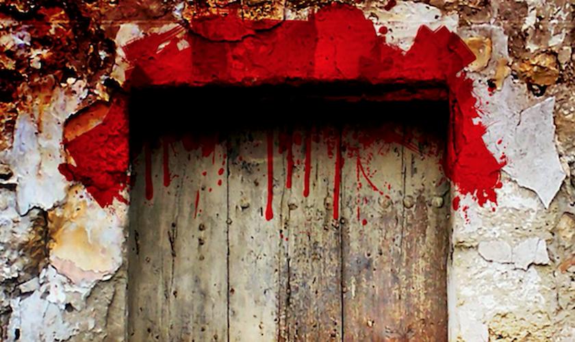 O sangue nos umbrais das portas diferenciava as casas dos judeus das casas de egípcios, durante a páscoa que antecedeu o êxodo. (Foto: Manna from Heaven Ministries)