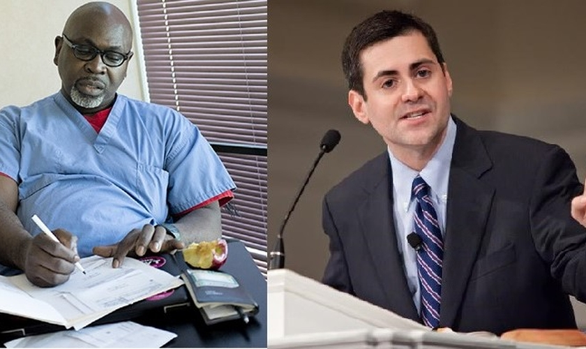 Médico Willie Parker (esquerda) e teólogo Russell Moore (direita). (Imagem: Guiame)