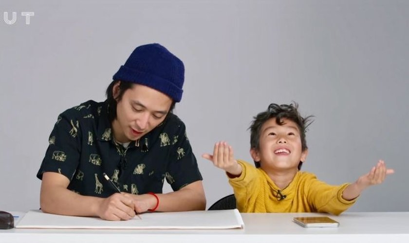 Crianças descreveram a imagem que elas têm sobre Deus para um ilustrador. (Foto: Reprodução/YouTube)