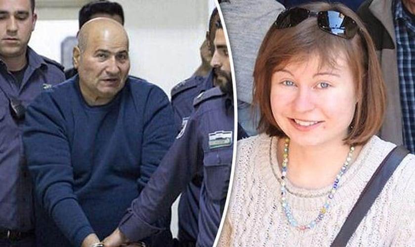 Terrorista palestino Jamil Tamimi (à esquerda) e a estudante cristã assassinada Hannah Bladon (à direita). (Foto: Daily Signal)