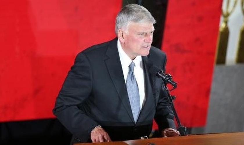 Pastor Franklin Graham é diretor da Associação Evangelística Billy Graham e da Organização missionária 'Bolsa do Samaritano'. (Foto: CBN News)