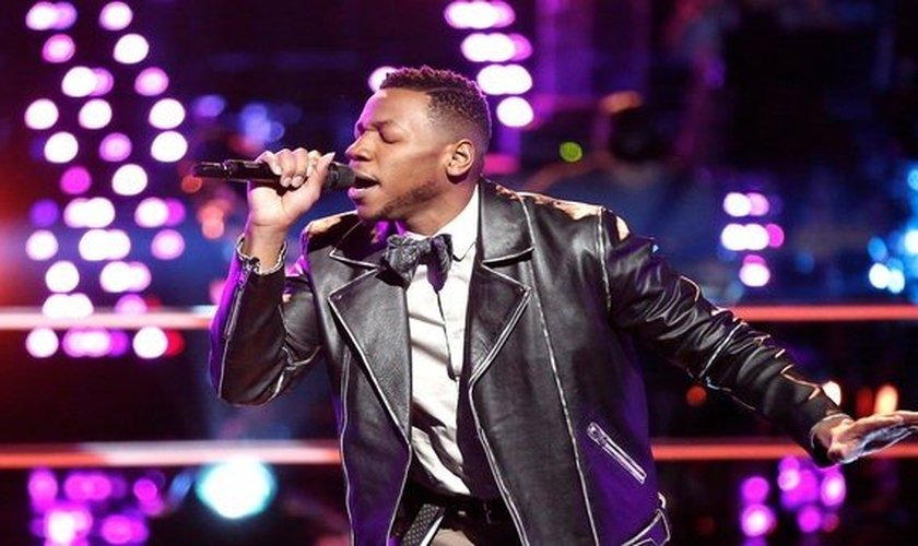 Chris Blue é candidato do The Voice e está na final do programa. (Imagem: Youtube)