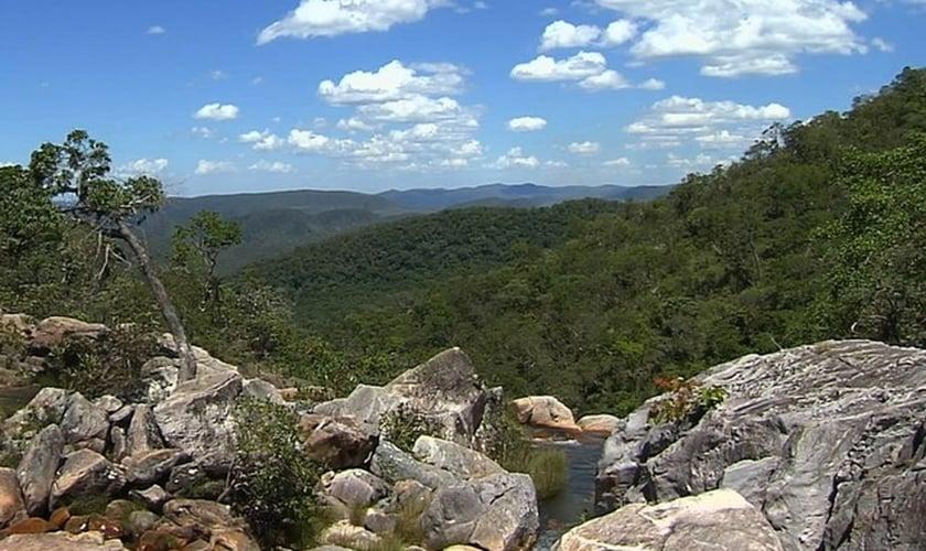 Parque Nacional da Chapada dos Veadeiros, em Goiás. (Foto: Reprodução/TV Anhanguera)