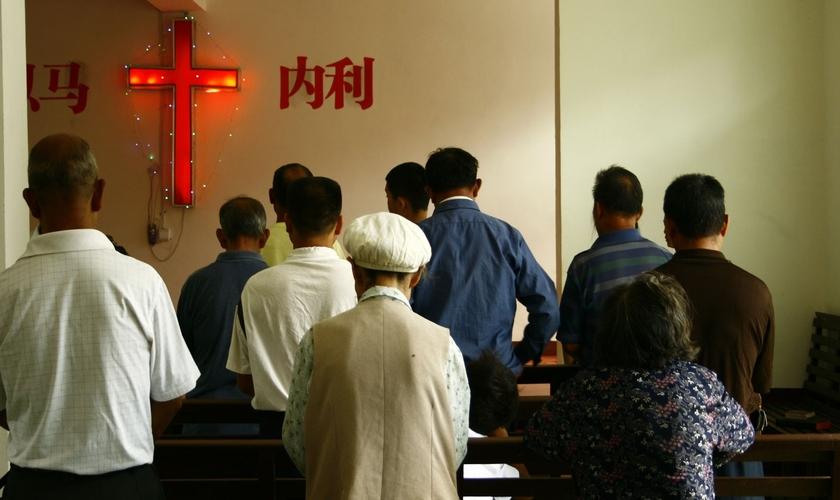 O governo declarou que a igreja não poderia mais fazer uso do edifício até que as questões fossem resolvidas. (Foto: China Aid).