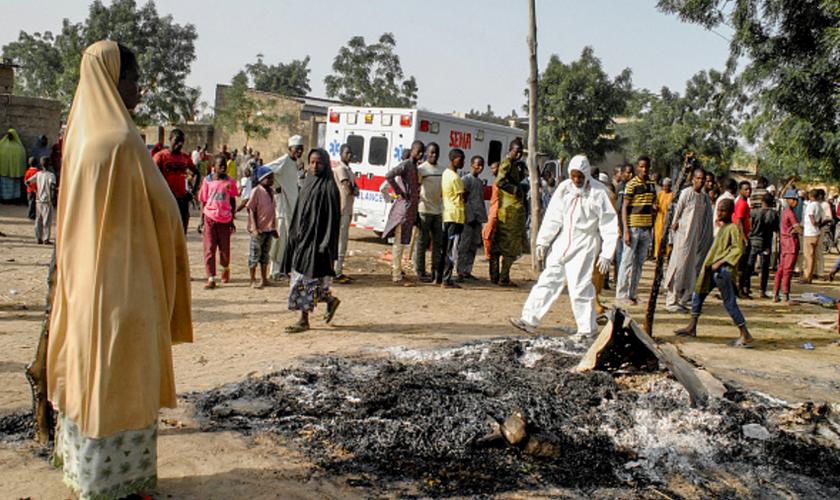 O reverendo diz que há agora muitos missionários entre os grupos de refugiados internos. (Foto: AFP).