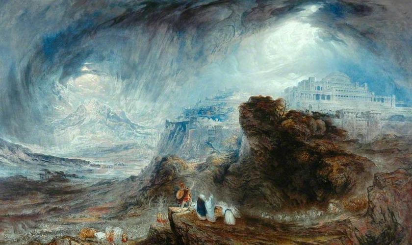 Pintura remonta momento da guerra de 1.207 a.C, em que o sol parou. (Imagem: Times of Israel)