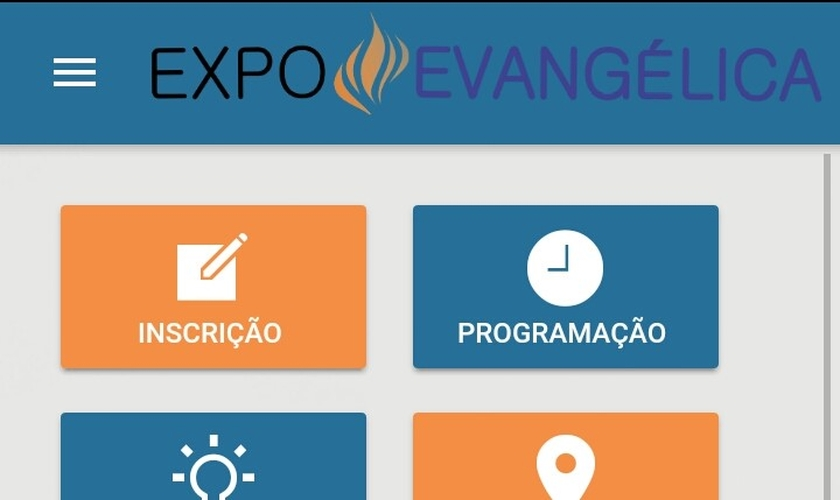 Reprodução de parta da imagem do aplicativo da Expoevangélica. (Imagem: Reprodução)