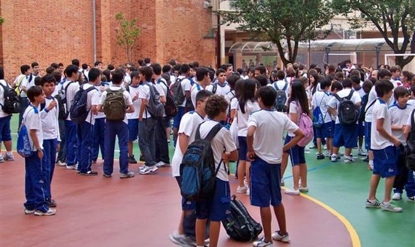 Alunos do Colégio Santo Agostinho, em MG. (Foto: csa)
