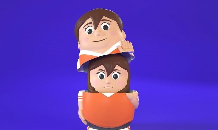 Boneca 'Sam' deixando de ser menina (dentro) e se tornando um menino (por fora). (Foto: Kickstarter)