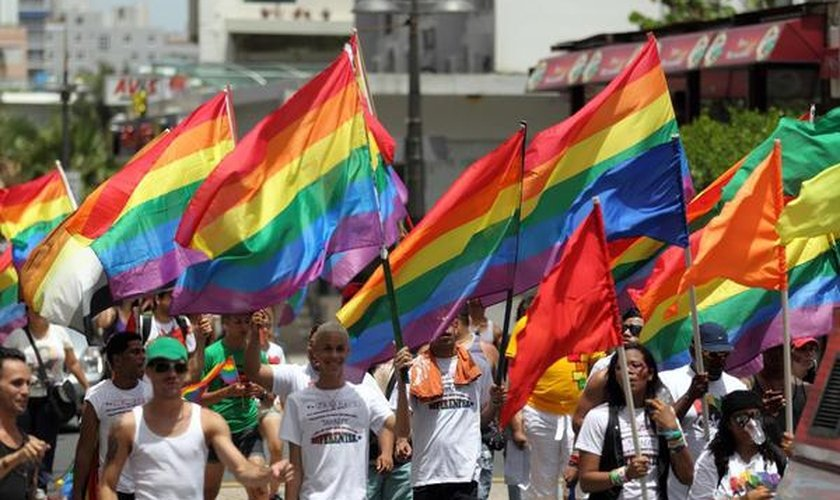Protesto LGBT em Porto Rico. (Foto: NACLA)