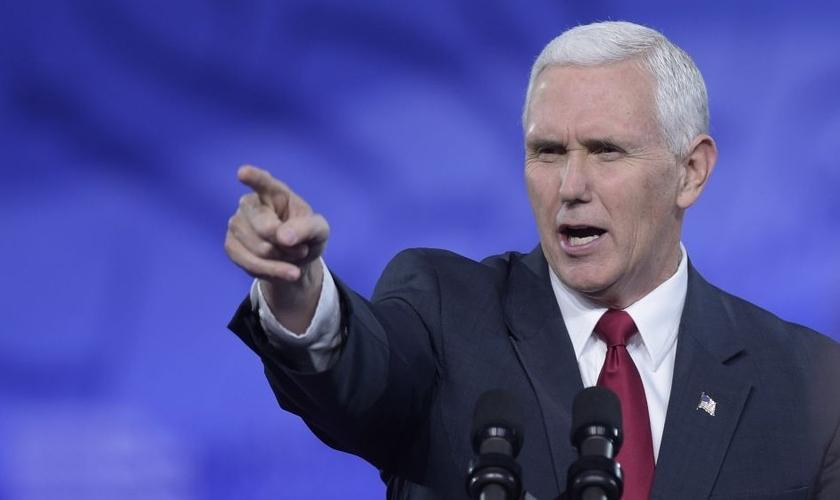 Mike Pence é o atual vice-presidente dos Estados Unidos no governo Trunp. (Foto: Times of Israel)
