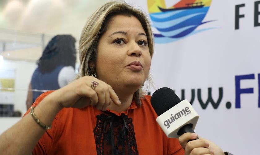 Leila esteve presente na Expoevangélica 2017. (Foto: Guiame/Marcos Paulo Corrêa).