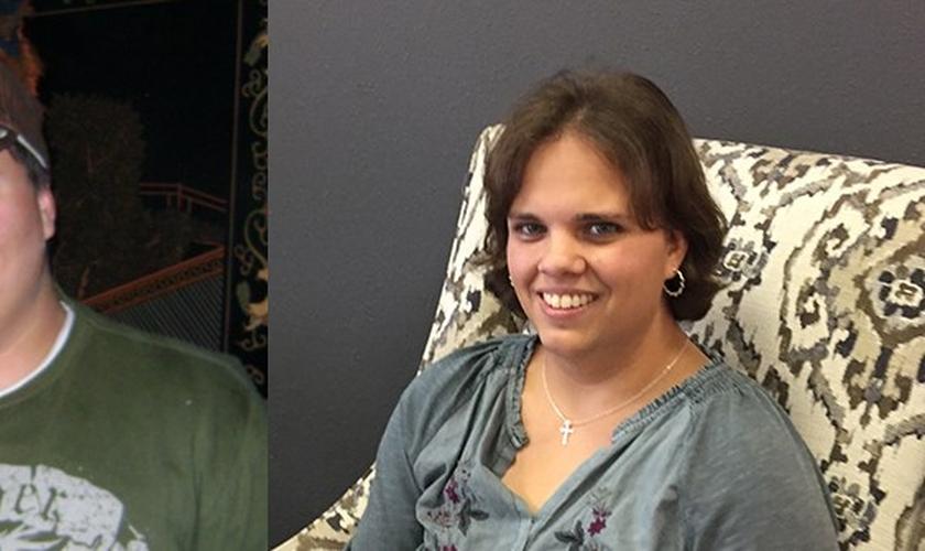 Depois de dez anos vivendo como um homem, Laura encontrou restauração em Jesus. (Foto: Reprodução)