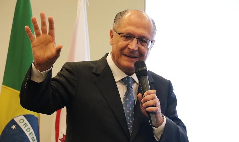 O governador falou a pastores e líderes nesta quinta-feira, na Zona Norte de São Paulo. (Foto: Guiame/Marcos Paulo Correa)