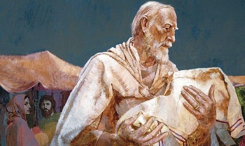 """Pintura """"Abrãao e Isaque"""", de William Withaker. (Imagem: Almanaque da Bíblia)"""