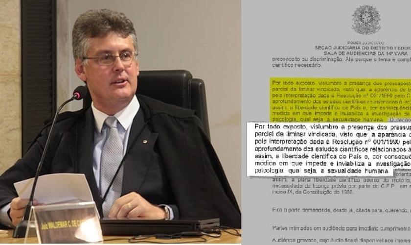 Após ter sua decisão mal interpretada, Waldemar Cláudio de Carvalho chegou a ser chamado de 'juiz da cura gay' pela grande mídia. (Imagem: Guiame)
