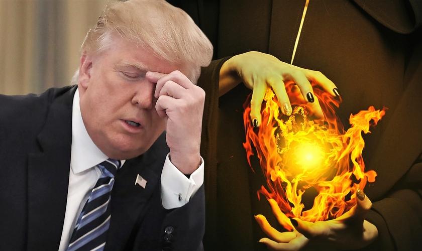Bruxas estão se mobilizando desde janeiro para lançar feitiços contra o presidente Donald Trump. (Imagem: New York Newz)