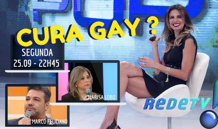 Marco Feliciano e Marisa Lobo participaram de um debate sobre cura gay no Superpop. (Imagem: Facebook)
