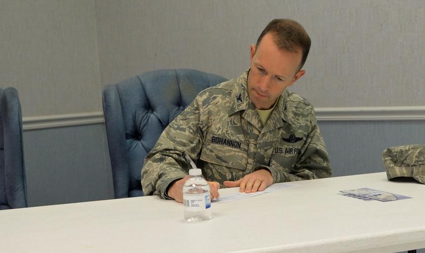 Leland Bohannon teve sua promoção a general cancelada por se opor ao casamento gay. (Foto: Barksdale Air Force Base)