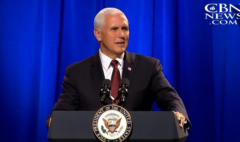 Mike Pence é vice-presidente dos EUA. (Imagem: CBN News)