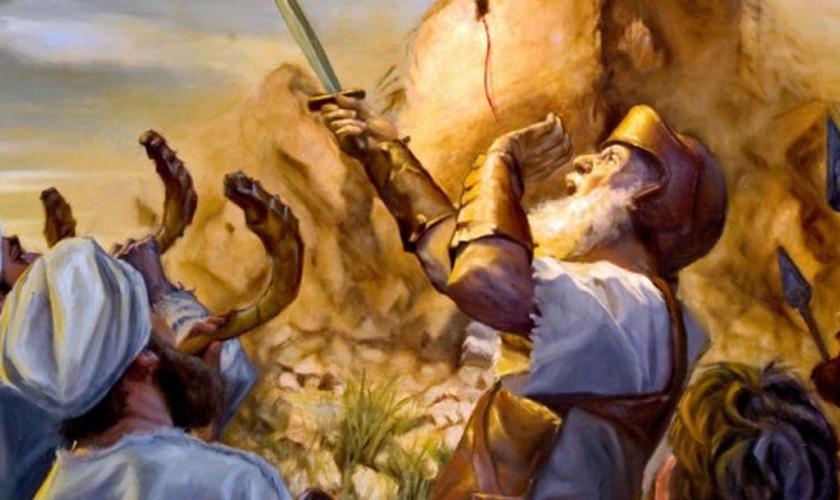 Pintura ilustra Josué e o exército de Israel na batalha pela Terra Prometida. (Imagem: Google)
