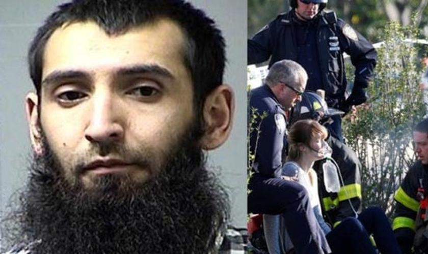 Sayfullo Habibullaevic Saipov (à esquerda) foi responsável pelo atropelamento que deixou 8 mortos e 15 feridos em Nova York. (Imagem: NewsX)