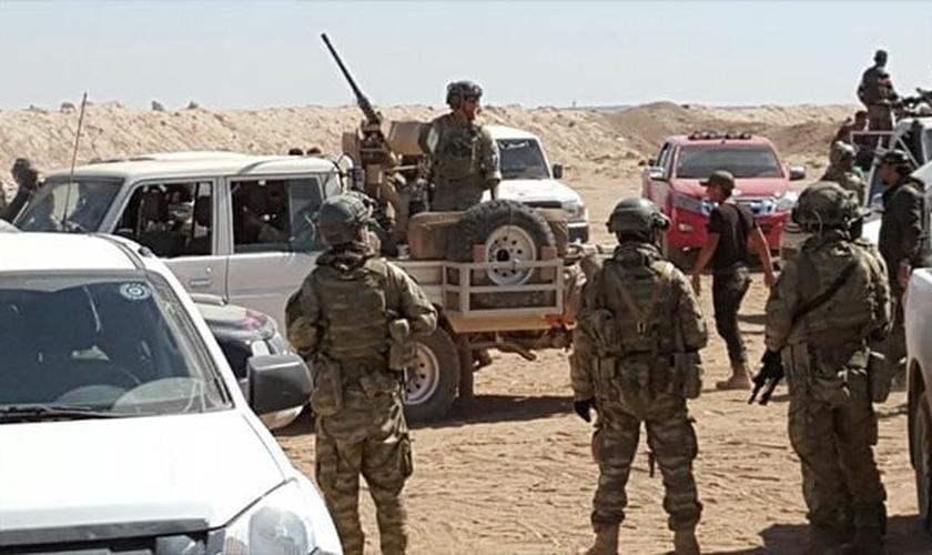 O exército sírio retomou partes das terras dominadas pelo Estado Islâmico. (Foto: Reprodução).