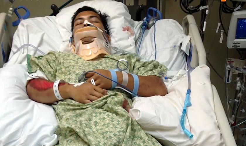 A recuperação de Christopher foi bem mais rápida que o esperado. (Foto: Reprodução).