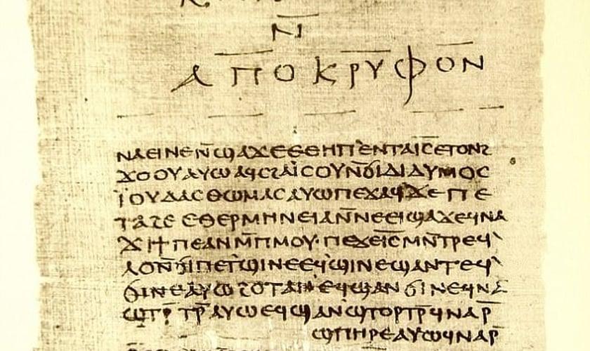 Fragmento da biblioteca de Nag Hammadi, uma coleção de 52 textos do cristianismo primitivo. (Foto: Wikimedia)