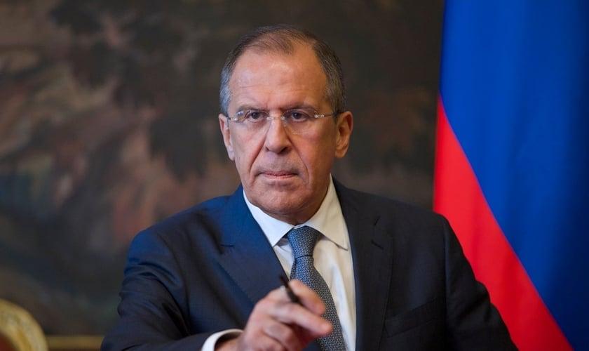 Sergey Lavrov é o ministro das Relações Exteriores da Rússia. (Foto: Reprodução).