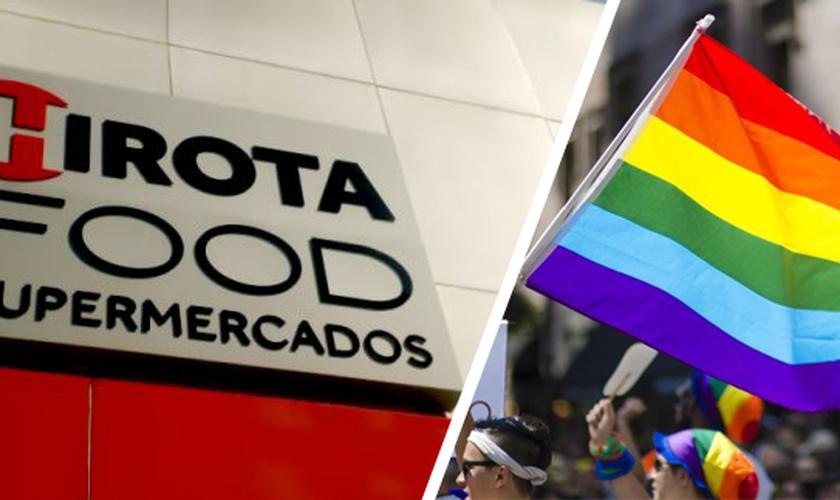 """Supermercado vira alvo de """"beijaço gay"""" por defender o casamento bíblico. (Foto: LFK Comunicação/Reprodução)"""